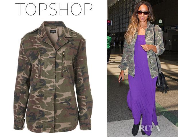 Leona Lewis' Topshop Camo Army Jacket
