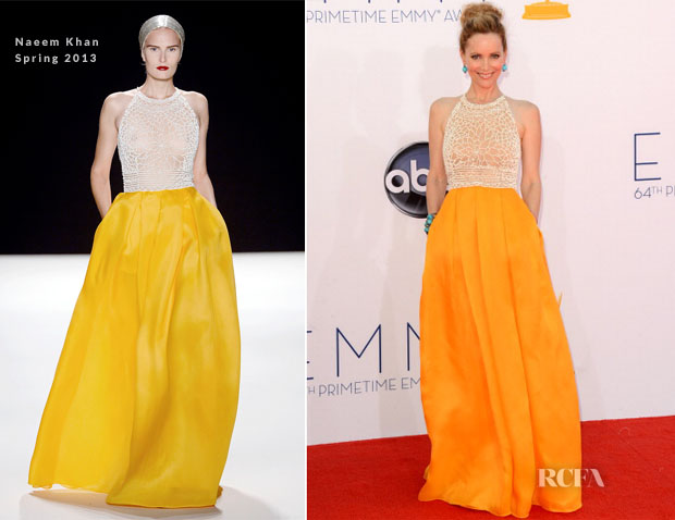 Leslie Mann In Naeem Khan - 2012 Emmy Awards