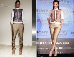 Li Bingbing In Celine - 'Resident Evil 5: Retribution' Taiwan Press Conference