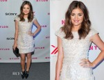 Lucy Hale In Georges Chakra Couture - NYLON's September TV Issue Launch Party