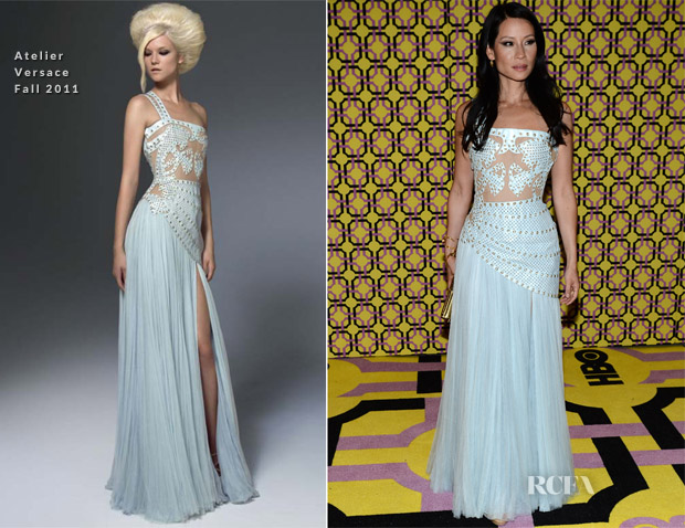 Lucy Liu In Atelier Versace - 2012 Emmy Awards Post Awards Reception