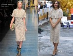 Maggie Gyllenhaal In Dolce & Gabbana - The Today Show