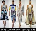 Mary Katrantzou Spring 2013