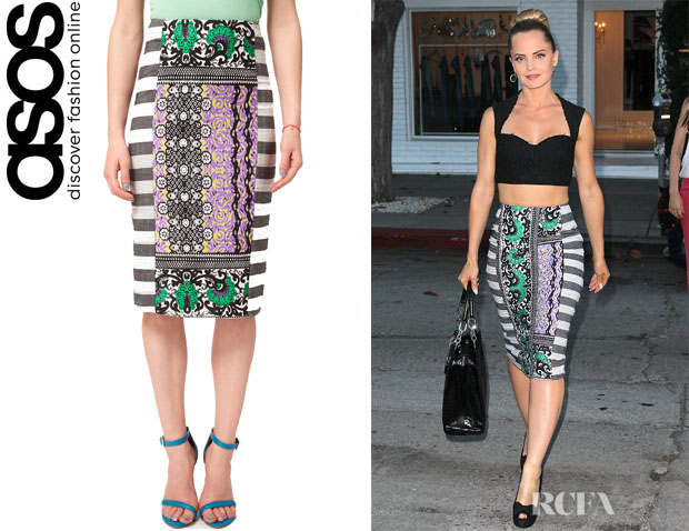 Mena Suvari's ASOS AFRICA Pencil Skirt