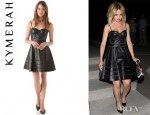 Mena Suvari's Kymerah Sora Leather Bustier Dress