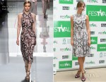 Michelle Jenner In Christian Dior - 'Isabel' Press Conference Vitoria Gasteiz Festival 2012