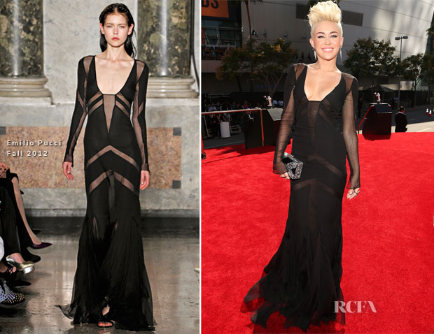 Miley Cyrus In Emilio Pucci - 2012 MTV Video Music Awards