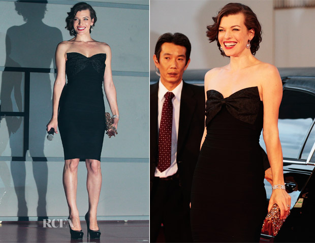 Milla Jovovich In ERIN by Erin Fetherston - 'Resident Evil Retribution' Tokyo Premiere