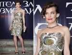Milla Jovovich In Reem Acra - 'Resident Evil: Retribution' Moscow Premiere