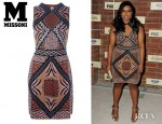 Mindy Kaling's M Missoni Patterned Knitted Dress