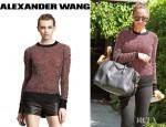 Nicole Richie's Alexander Wang Long Sleeve Metallic Pullover