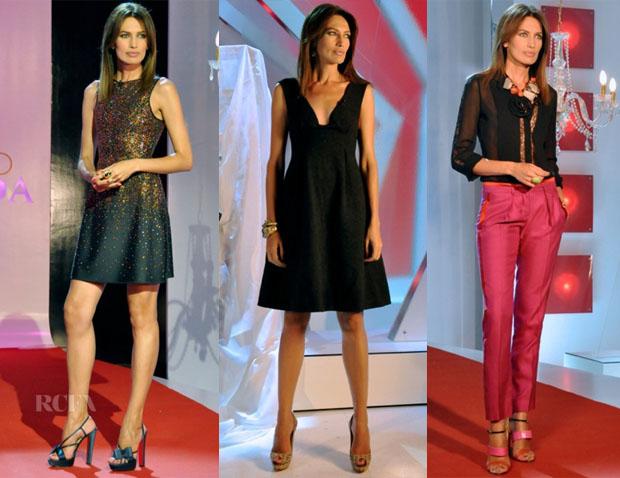 sports shoes 8d20d 11a07 Nieves Alvarez In Giorgio Armani, Calvin Klein & Roberto ...