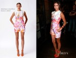 Nina Dobrev In Monique Lhuillier - The Hollywood Reporter TIFF Lounge