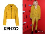 Oh Land's Kenzo Faux Fur Jacket