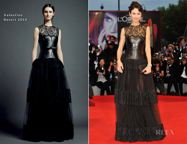 Olga Kurylenko In Valentino - 'To The Wonder' Venice Film Festival Premiere