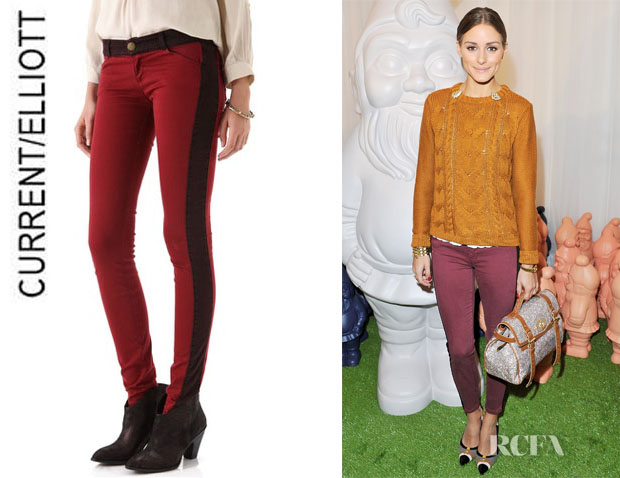 Olivia Palermo's CurrentElliott Rider Denim Leggings1