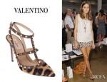 Olivia Palermo's Valentino Leopard Pumps