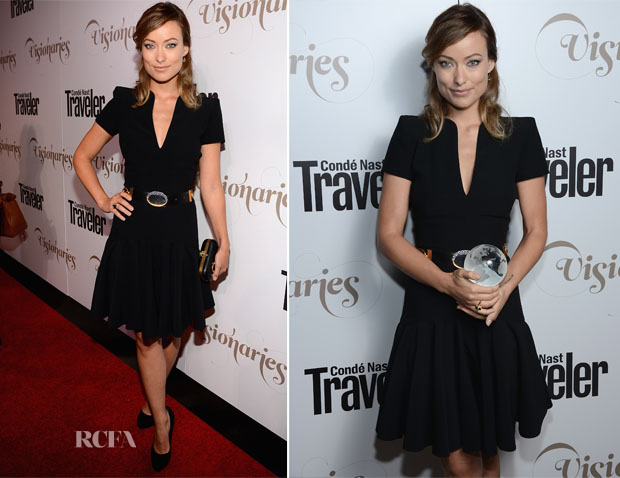 Olivia Wilde In Alexander McQueen - Conde Nast Traveler Celebrates 'The Visionaries'