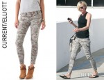 Portia de Rossi's Current/Elliott Multi Zip Stiletto Jeans