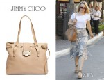 Rachel McAdams' Jimmy Choo Rhea Leather Shopper