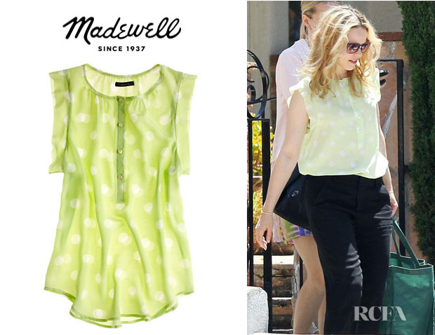 Rachel McAdams' Madewell Silk Dotty Sunshade Top