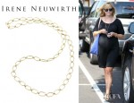 Reese Witherspoon's Irene Neuwirth Gold Large Link Chain Necklace