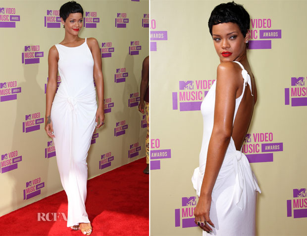Rihanna In Adam Selman - 2012 MTV Video Music Awards
