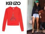 Rihanna's Kenzo Asymmetric Eiffel Kenzo Sweater