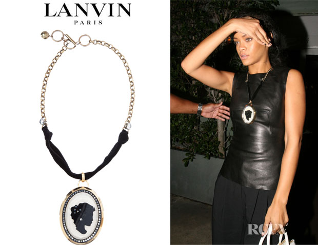 Rihanna's Lanvin Cameo Necklace
