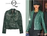 Rihanna's McQ Alexander McQueen Leather Biker Jacket