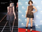 Roxane Mesquida In Giorgio Armani - 'Kiss of the Damned' Venice Film Festival Photocall