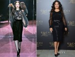 Salma Hayek In Gucci - Gucci Premiere Fragrance Launch