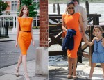 Salma Hayek In Roland Mouret - Out In Venice
