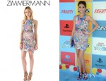 Sarah Hyland's Zimmermann Balance Printed Dress