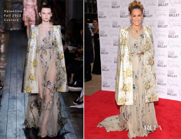 Sarah Jessica Parker In Valentino Couture - 2012 New York City Ballet Fall Gala