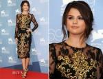 Selena Gomez In Dolce & Gabbana - 'Spring Breakers' Venice Film Festival Photocall