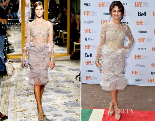 Selena Gomez In Marchesa - 'Spring Breakers' Toronto Film Festival Premiere