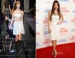 Selena Gomez In Versace - 'Hotel Transylvania' LA Premiere