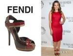 Sophia Bush's Fendi Let Me In Ankle Strap Sandals