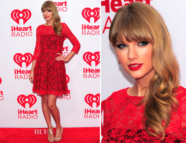 Taylor Swift In French Connection 2012 Iheartradio Music Festival Red Carpet Fashion Awards