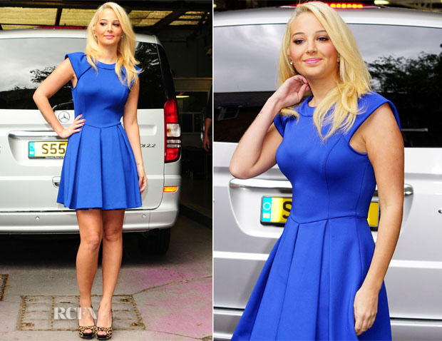 Tulisa Contostavlos In Ted Baker - This Morning