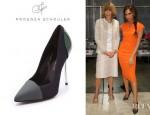 Victoria Beckham's Proenza Schouler Colourblock Cap Toe Pumps