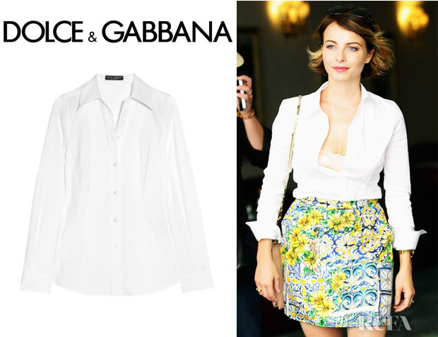 Violante Placido's Dolce & Gabbana Cotton Blend Shirt