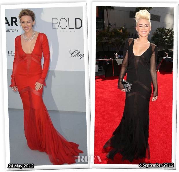 Who Wore Emilio Pucci Better Kylie Minogue or Miley Cyrus