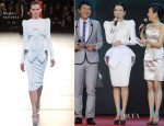 Zhang Ziyi In Mugler - 'Dangerous Liaisons' Press Conference
