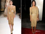 Zoe Saldana In Elie Saab Couture - 'The Words' LA Premiere