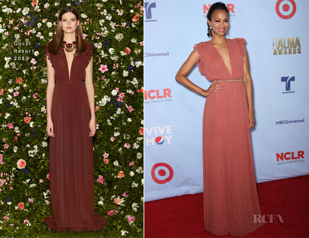 Zoe Saldana In Gucci - 2012 ALMA Awards
