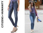 Zoe Saldana's Citizens Of Humanity Rocket High Rise Skinny Jeans