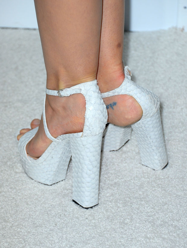 Jaime King's Calvin Klein shoes
