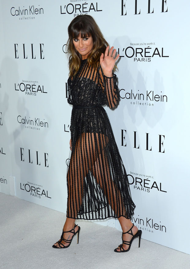 Lea Michele in Zimmermann